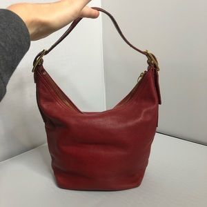 Coach Vintage Red Hobo Bag